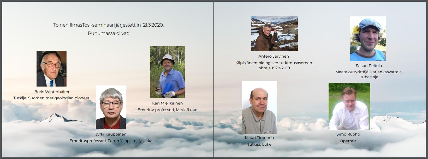 Ilmastosi -seminaarin puhujat