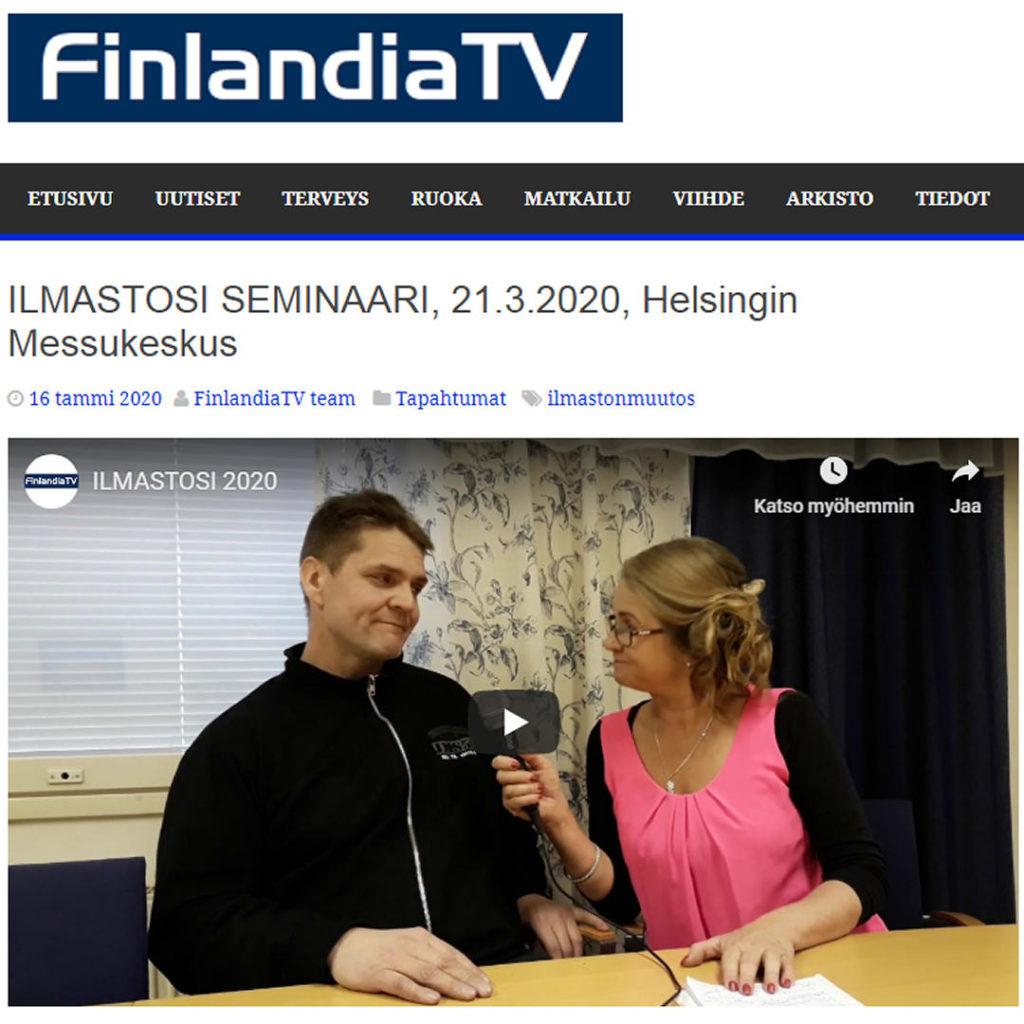 Kuva järjestäjä Pekaa Kankaan haastattelusta FinladiaTV:ssä. Kuva linkittää FinlandiaTV:n lähetykseen.
