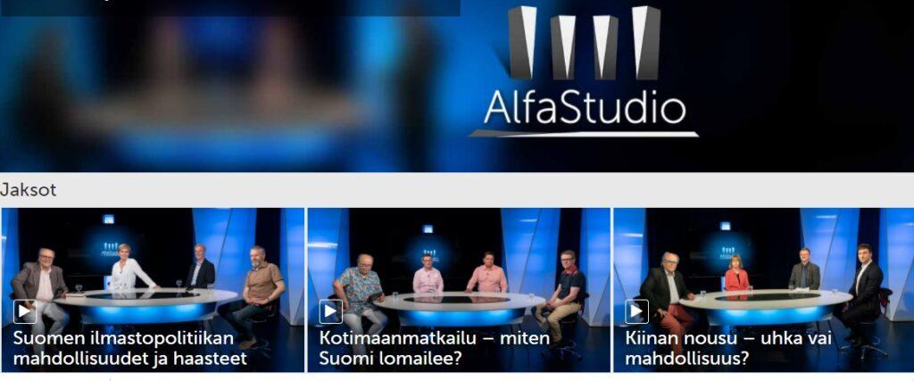 AlfaStudio Ilmastosi 2020 seminaari televisiokeskustelu